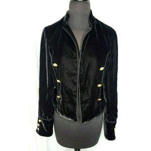 CAROLINA BELLE Black Velvet Blazer